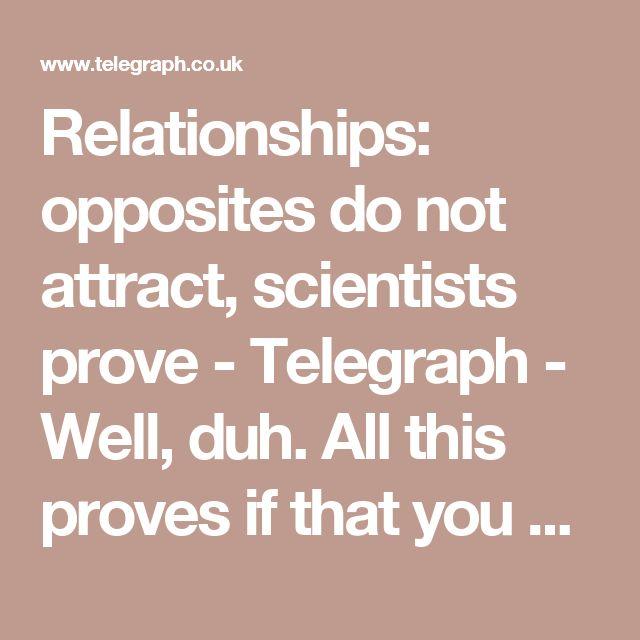 Dating your polar opposite