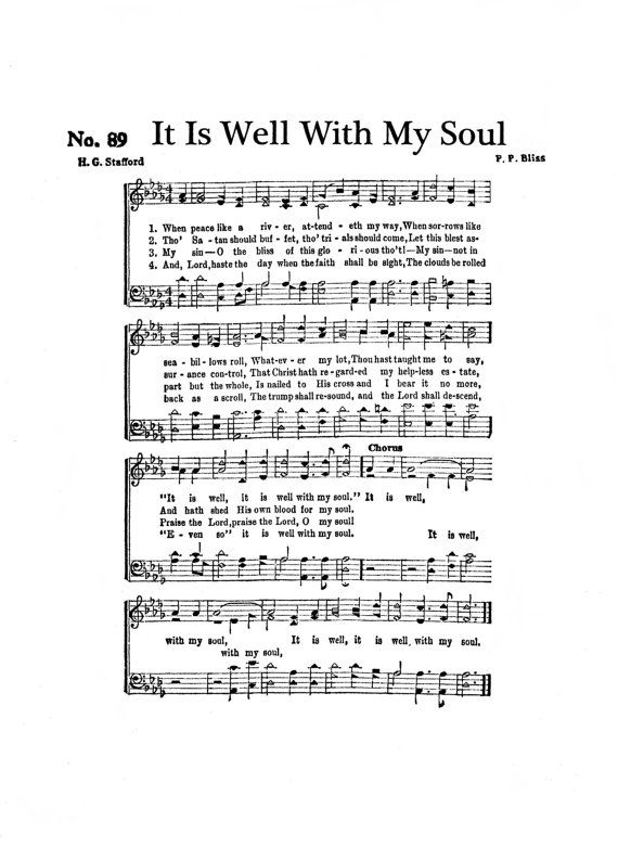 It Is Well With My Soul Hymn Digital Sheet Music by TheHymnShoppe
