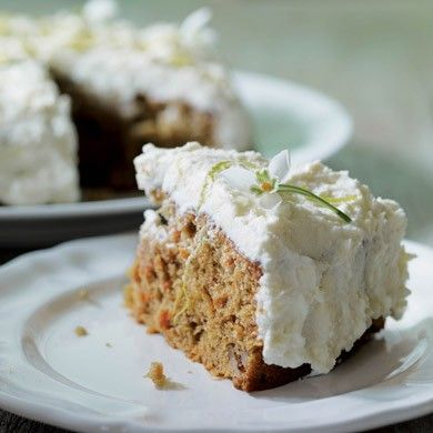 Carrot cake with lime and mascarpone topping from Supper for a Song: For the Clever Cook in the Cost-Conscious Kitchen by Tamasin Day-Lewis