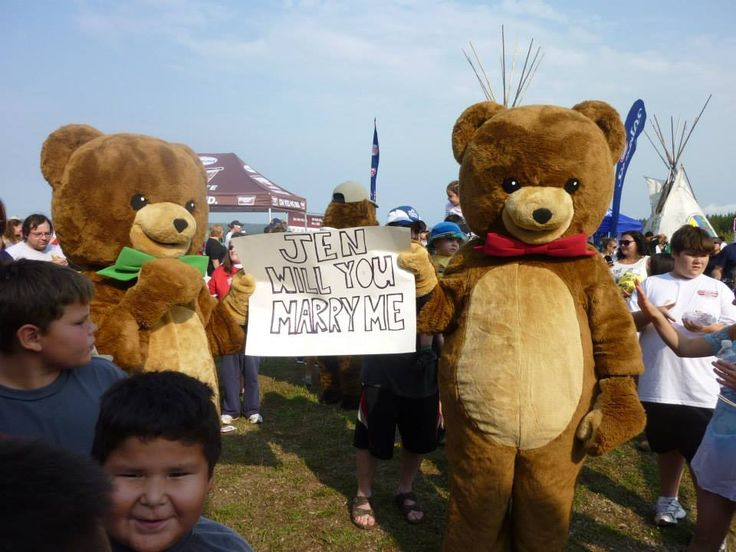 Loonie Times Custom Mascots- Our Kraft Peanut Butter Bears helping out at a very special occasion :)