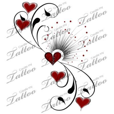 Tattoo heart broke no more #1601   CreateMyTattoo.com: Scroll Tattoos ...