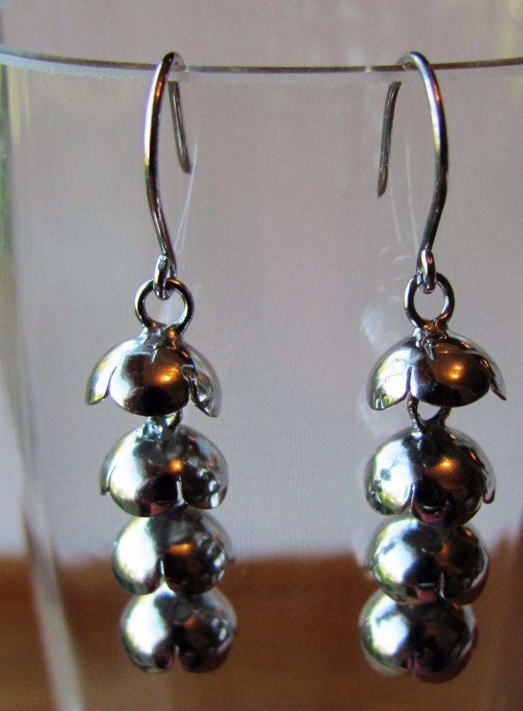 Sterling Silver Earrings Kevät Spring Dangling Liisa Vitali Kultakeskus Finland #LiisaVitaliKultakeskus #Earrings