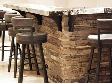 Love Stone Acccents Around A Bar. So Easy DIY With Our Faux Stone Panels.