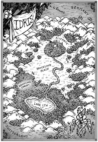 Map of Idris... the hidden European country. No mundies allowed! #Shadowhunters #Idris #Alicante