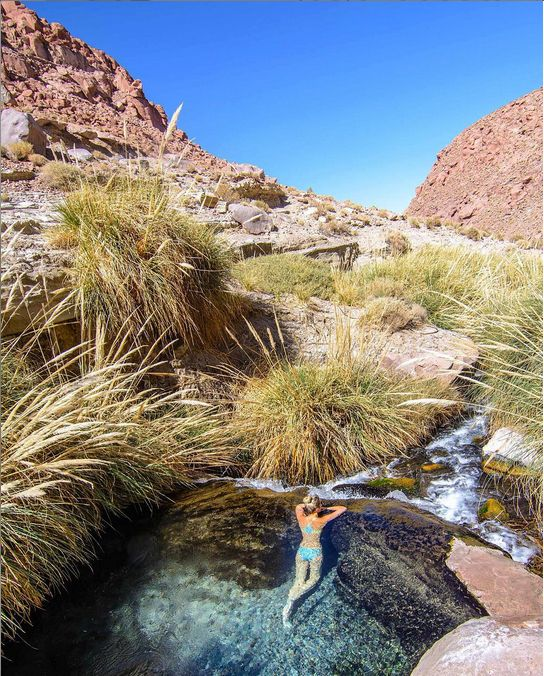 Puritama Hot Springs, San Pedro de Atacama, Antofagasta Region, Chile.