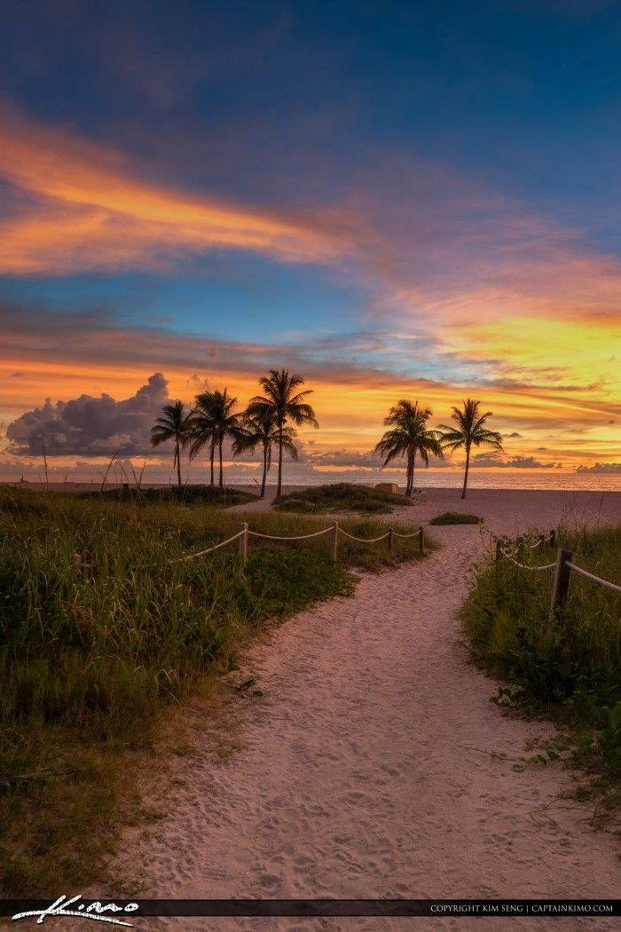 Amazing sunrise today at City Beach Park in Riviera Beach, Florida over Singer Island. HDR image created in Photomatix Pro and Topaz software.