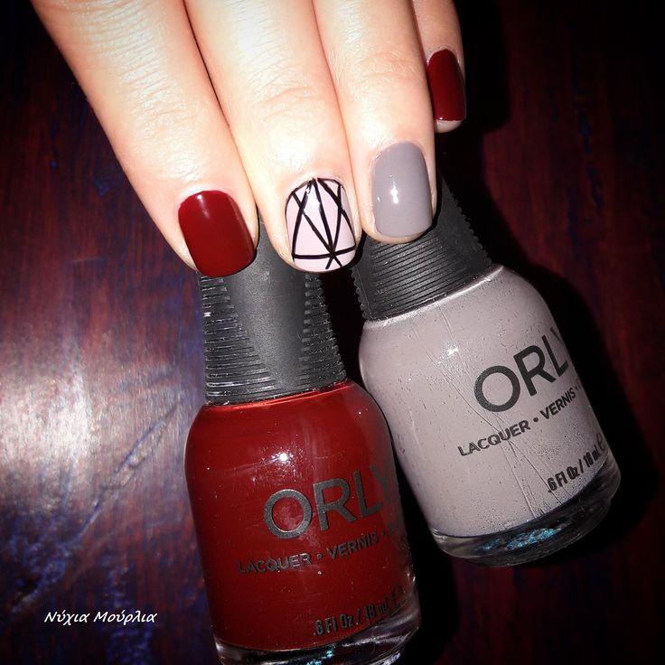 manicure~nailart~minimal nails~ lines nails