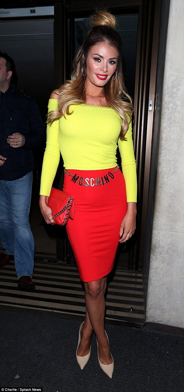 Chloe Sims steps out in fast food inspired outfit during night out #dailymail