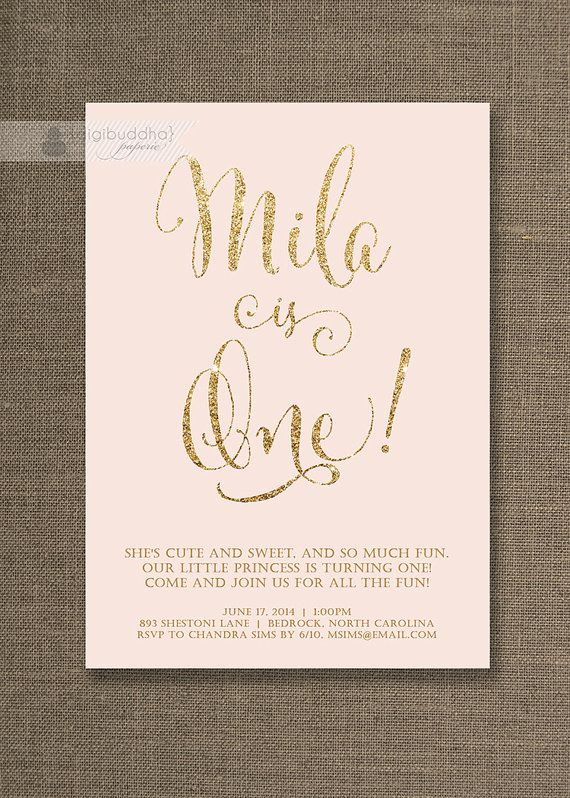 Best 25 Gold birthday ideas – Golden Birthday Invitation