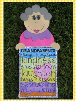 We Love Our Grandparents {A Special Grandparents' Day Craftivity in English and Spanish}