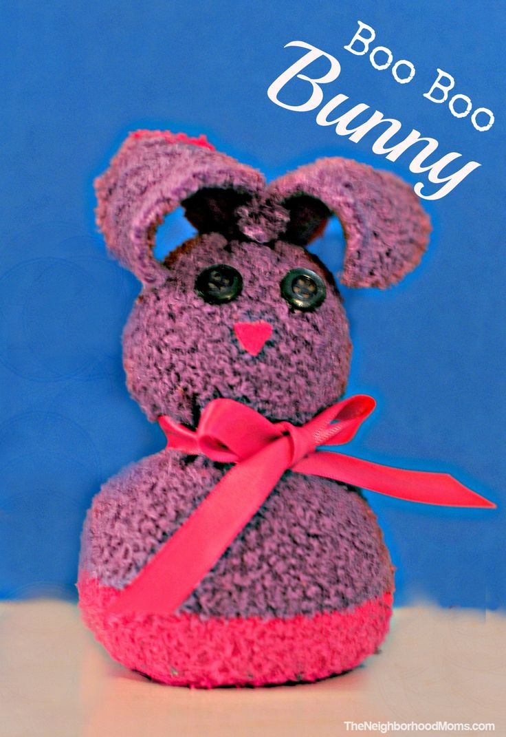 how to make boo boo bunny washcloths