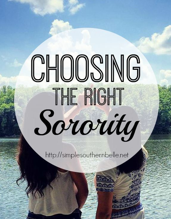 Choosing the Right Sorority, 4 simple questions to ask your self before deciding on your sorority.  http://simplesouthernbelle.net/