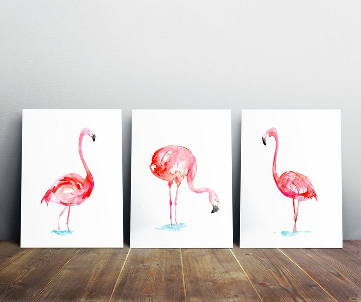 faire du rose en peinture 15 peintures flamant rose. Black Bedroom Furniture Sets. Home Design Ideas