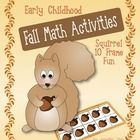 This is a set of common core aligned squirrel themed math activities that will be great for small groups and centers in a preschool, kindergarten, ...