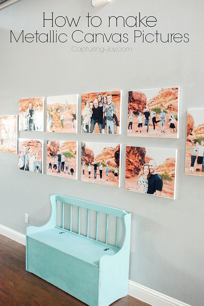 How to make Metallic Canvas PIctures for your home decor #DIY