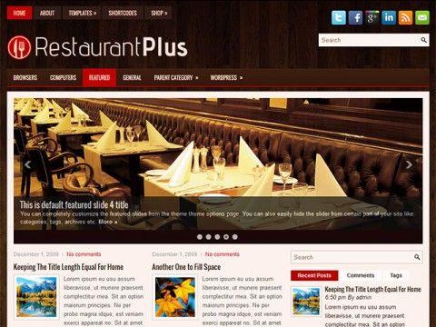RestaurantPlus WordPress theme