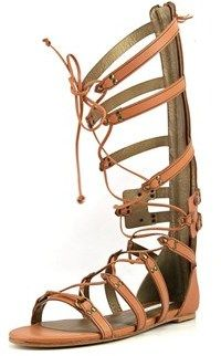 Twelfth Street By Cynthia Vincent Cynthia Vincent Franky Women Open Toe Leather Brown Gladiator Sandal.