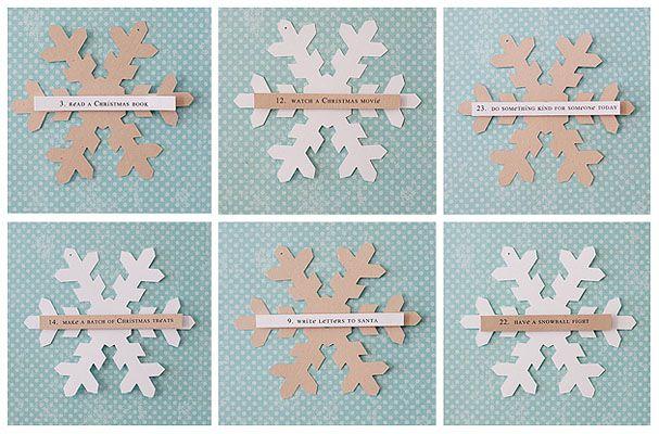 Snowflake advent calendarChristmas Cards, Christmas Countdown, Calendar Activities, Holiday Activities, Advent Calendar, Great Ideas, Christmas Ideas, Christmas Projects, A Christmas Stories