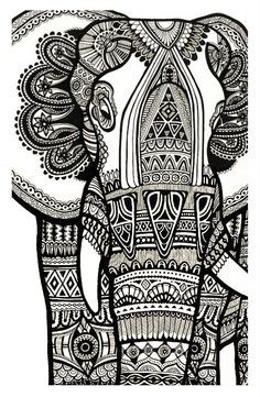 Zentangle Animal Coloring Pages