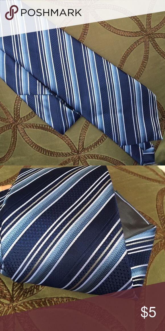 Blue striped tie Like New Accessories Ties