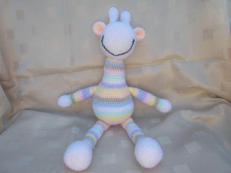 Stripey giraffe in pastel colours