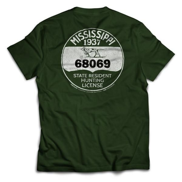 1937 MS Hunting License T-Shirt
