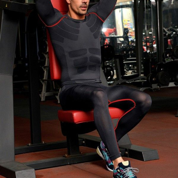 2017 Mens Athletic Pants Compression Running Training Base Layers Skin Sports Tights 9282