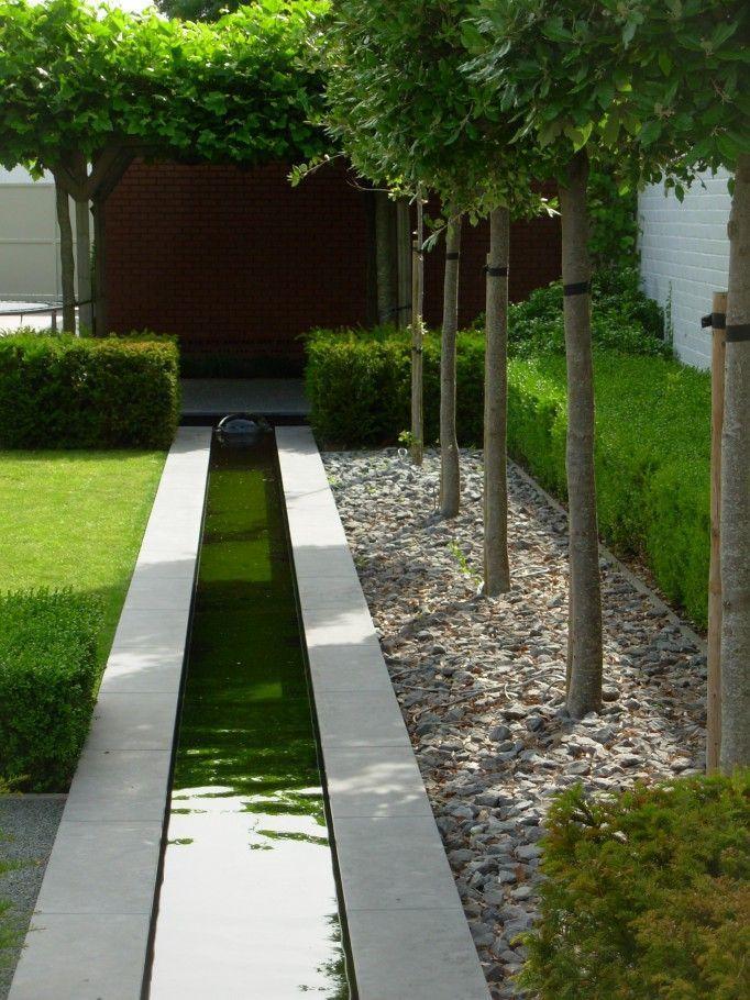 Vijver in tuin Teich im Garten