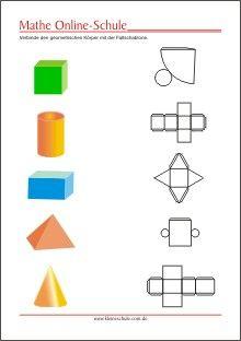 geometrische k rper lernen kugel w rfel quader pyramide zylinder kegel gs mathe mathe. Black Bedroom Furniture Sets. Home Design Ideas