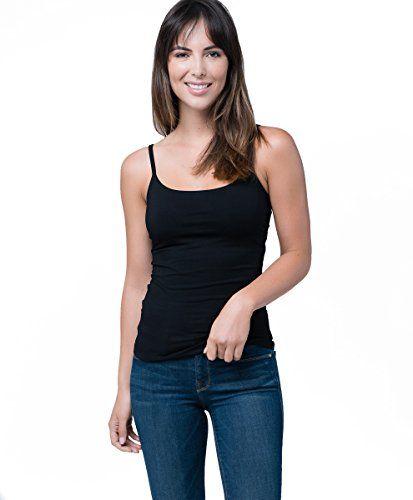 b89f0ca31e39a Everyday Super Soft Organic Women s Shelf Bra Camisole Style EA1-WCB ...