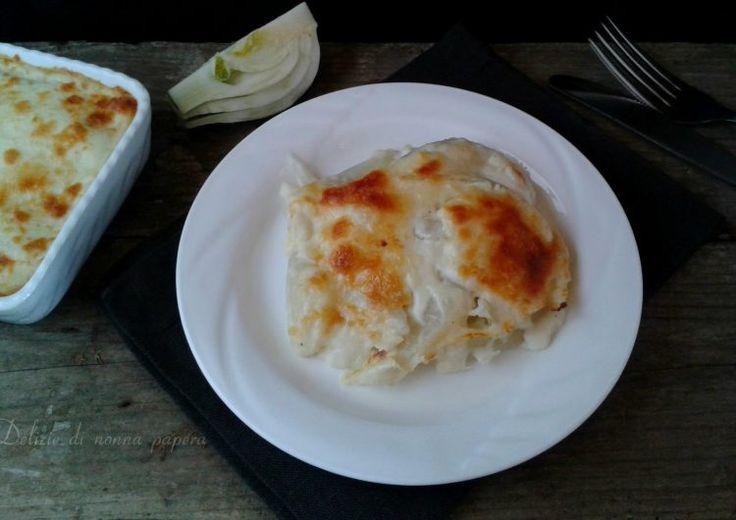 Finocchi+al+forno+gratinati+con+besciamella