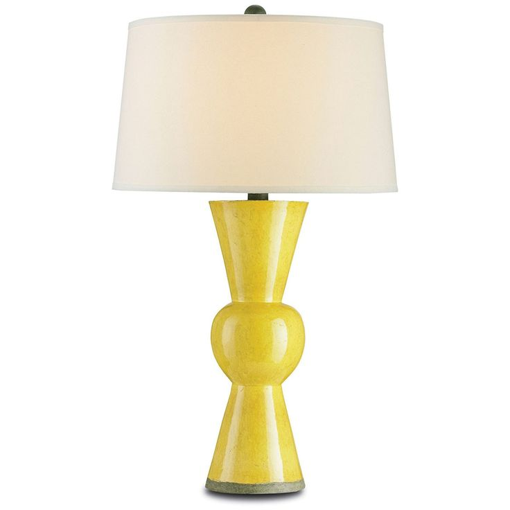 Currey And Company Upbeat Yellow Table Lamp 6382