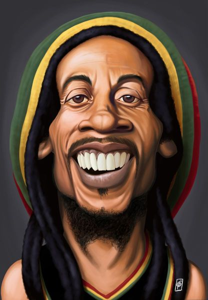 'Celebrity Sunday - Bob Marley' by rob-art on artflakes.com as poster or art print $15.68 art | decor | wall art | inspiration | caricatures | home decor | idea | humor | gifts