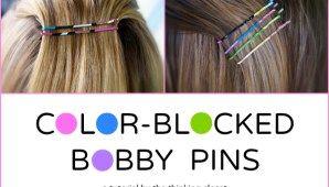 Color-Blocked Bobby Pins at