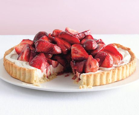 Strawberry Mascarpone Tart with Port Glaze | Epicurious.com