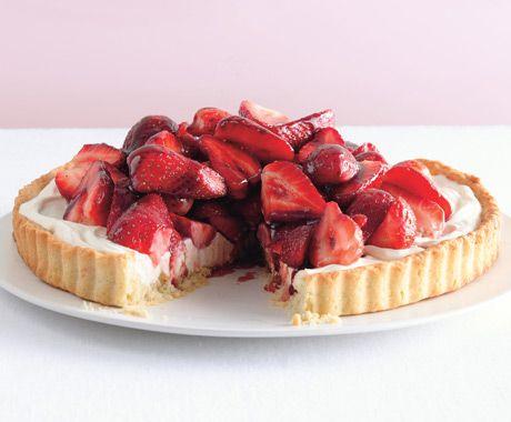 Strawberry Mascarpone Tart with Port Glaze | Epicurious.com