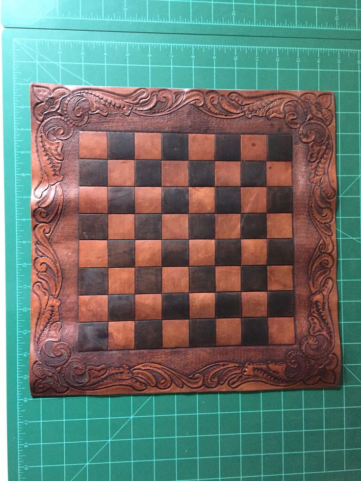 My home made leather checker board I made by hand