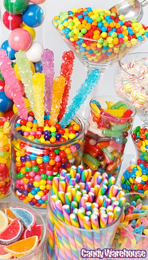candy buffet rainbow maybe an idea for birthday party