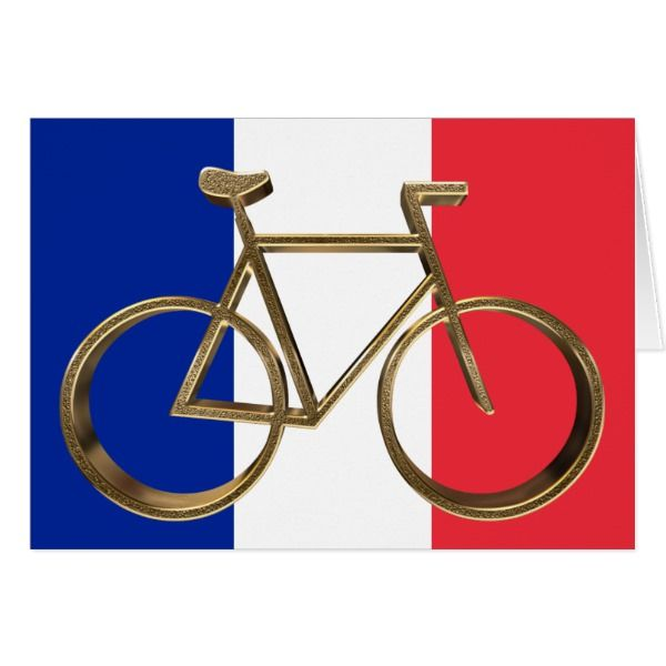 French Flag Golden Bike Bicycle Cycling Cyclist Zazzle Com Golden Bike Bicycle Bike Bike Riding Benefits