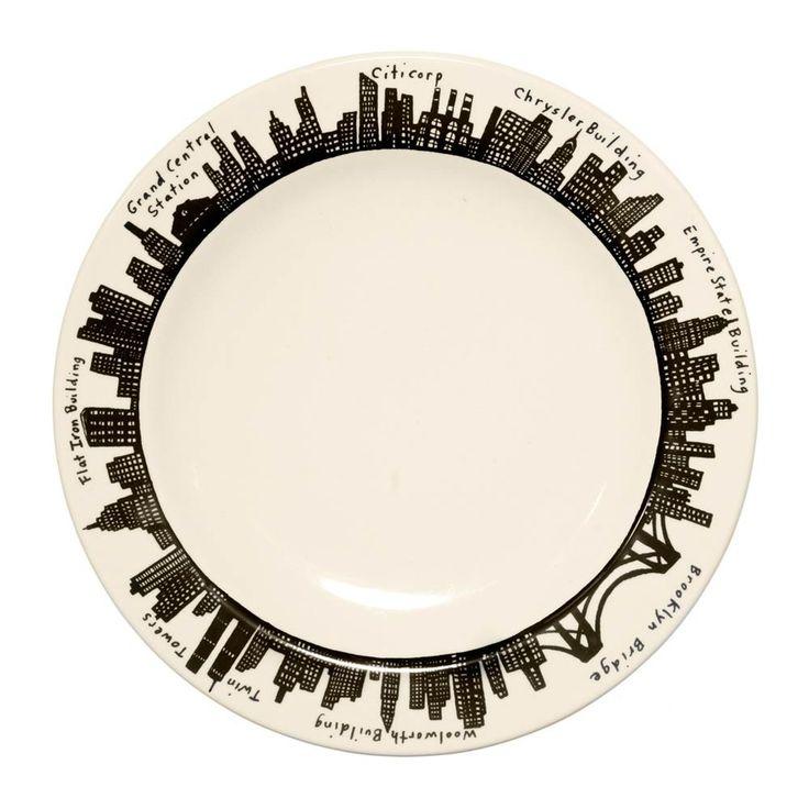 Design Pattern: 「212 Skyline」   212 Dinner Plate  1番人気のニューヨークスカイライン シリーズは、マンハッタンの町並みがデザインされていてN.Yらしい雰囲気を醸し出しています。大人シックな色味とデザインがどんな料理も引き立たせ、お洒落にみせてくれます♪