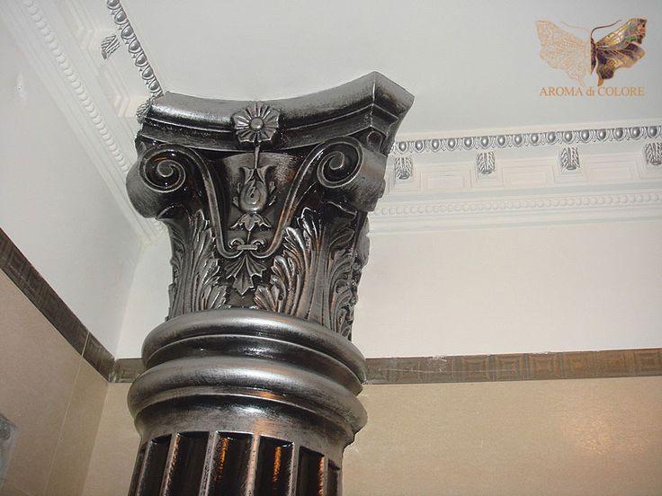 Патинирование и серебрение колонны