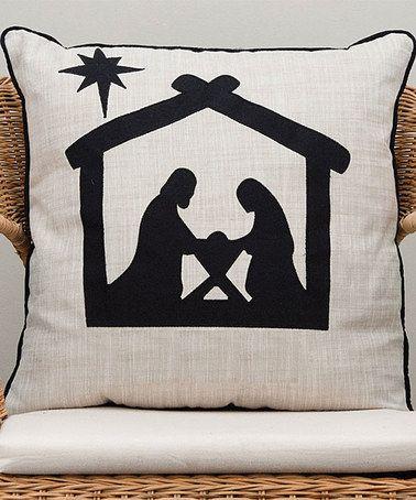Look at this #zulilyfind! Nativity Silhouette Throw Pillow #zulilyfinds