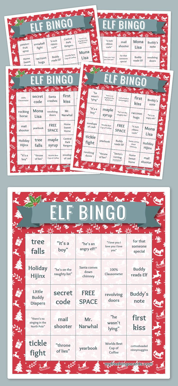 Elf Movie Bingo