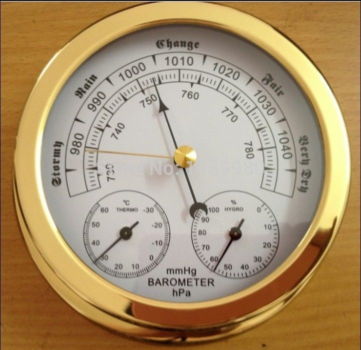 127.88$  Buy here  - barometer  thermometer hygrometer  in one for  marine weather station 143mm diameter