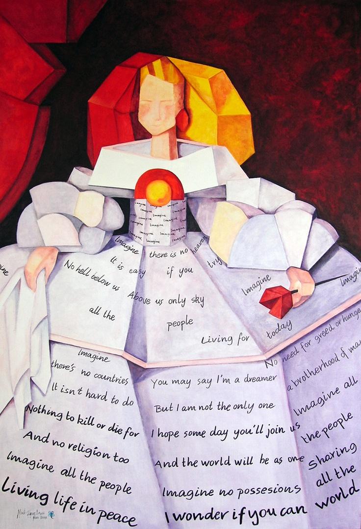 Menina Imagine - oil on canvas (2009) 150x100