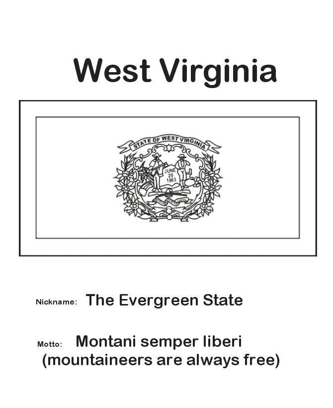 1000 Images About State Flags On Pinterest Ohio Flag Virginia State Flag Coloring Page