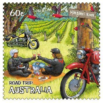 Margaret River, WA, Australia Road Trip 60c stamp. Retirement plan on the road