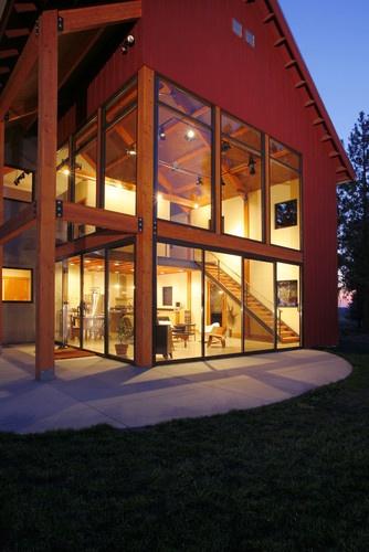 Palouse Residence - modern - exterior - other metros - Uptic Studios: Bathroom Design, Dreams Home, Modern Exterior, Rustic Home Exterior, Design Ideas, Interiors Design, Glasses Wall, Exterior Design, Uptic Studios
