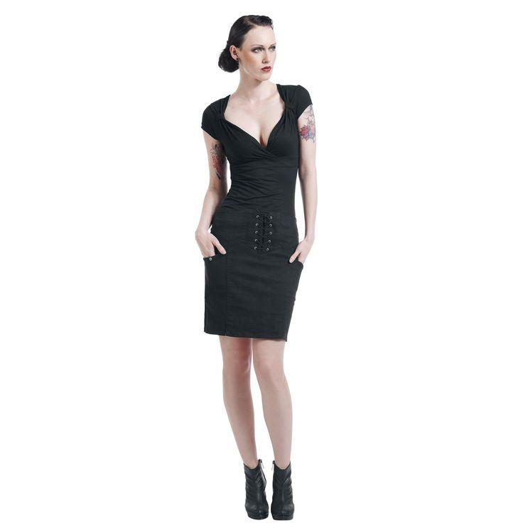 Fashion V-Top T-Shirt, Women black • EMP