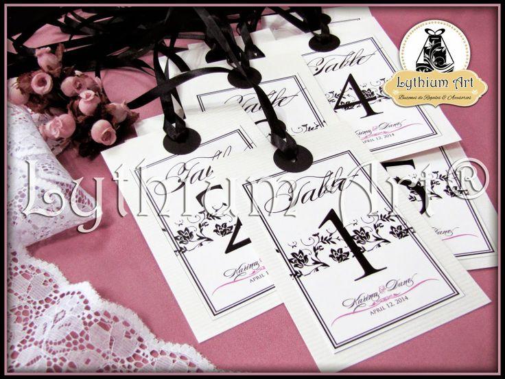 "Identificadores de Mesa Colgantes Bridal Shower ""Vintage Deluxe"" | Lythium Art® Design by: Yil Siritt #bodas #bodasenvenezuela #bodasvzla #instaboda #candybar #cakebox #vintage #vintagewedding #partyideas #damask #damasco #weddingideas #weddingpartyideas #LythiumArt #Novias #Bride #Matrimonio #decoraciondebodas #BridalShower #Identificadoresdemesa #tablenumber"